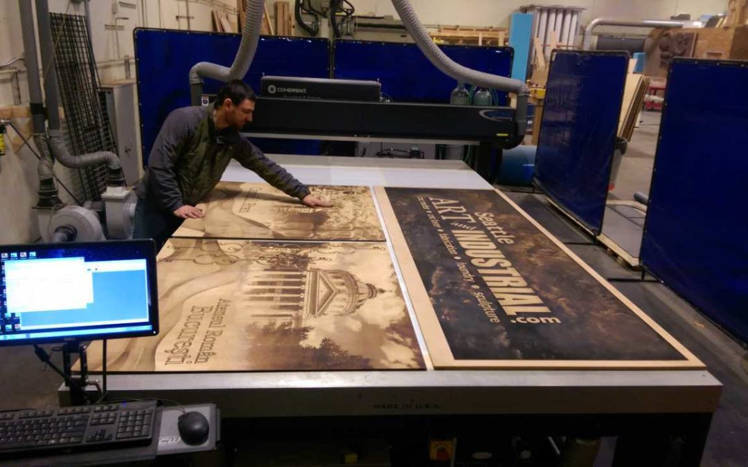 Large Format Wood or Metal Etching Seattle